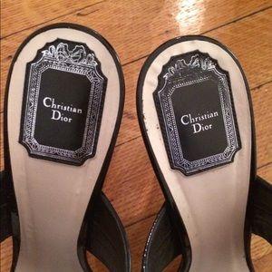 Dior Shoes - Christian Dior - Black Patent open-toe heels